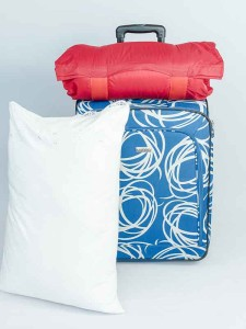 Comparing standard pillow to then rolled into Go Pillow