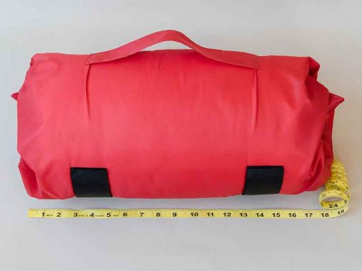 Red SleepKeeper measuring 18""