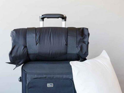 Black pillow carrier