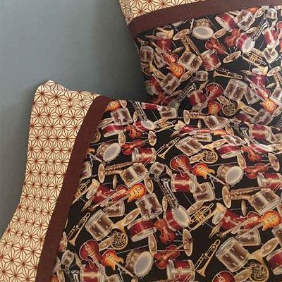 Designer pillow case - Music