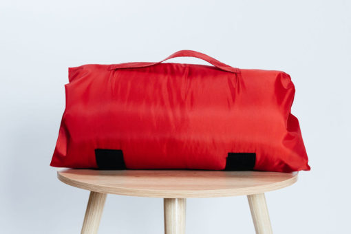 Red Travel Pillow Bag