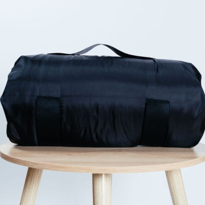Black Travel Pillow Bag