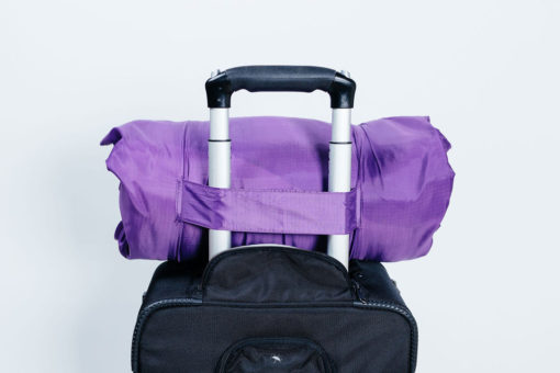 Pillow carry bag slips onto luggage