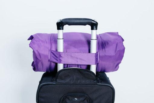 Pillow carry bag slips onto luggage